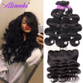 alimoda body wave bundles with frontal