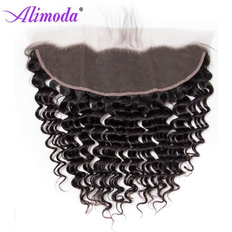 alimoda hair deep wave hair frontal closure