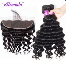 alimoda hair loose deep wave bundles with frontal