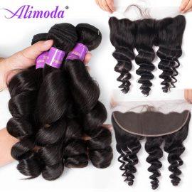 alimoda hair loose wave bundles with frontal
