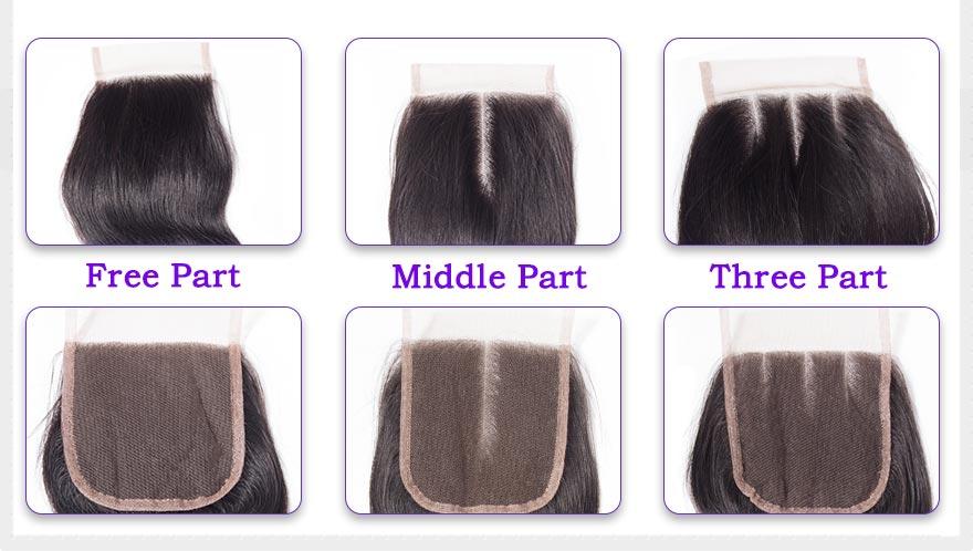 Alimoda hair body wave closure details