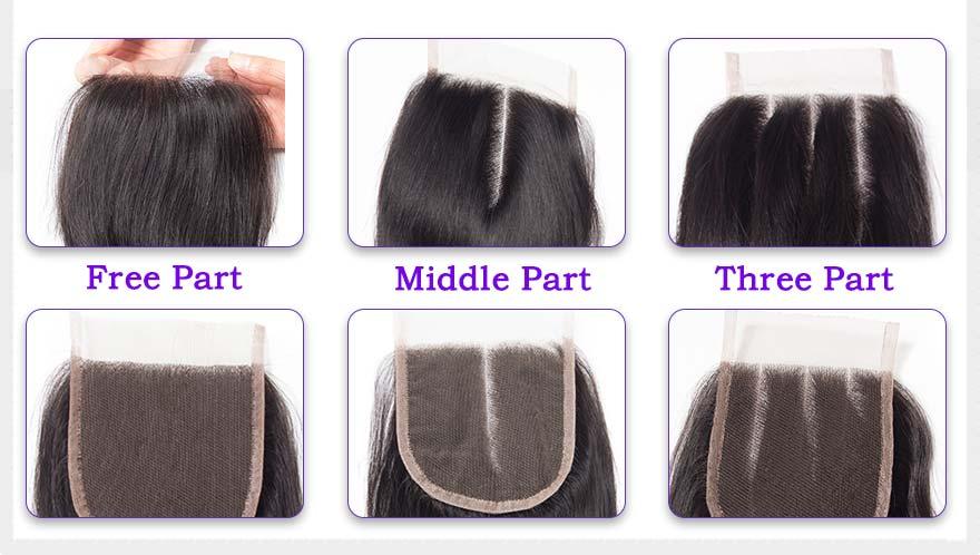 Alimoda hair straight hair lace closure details