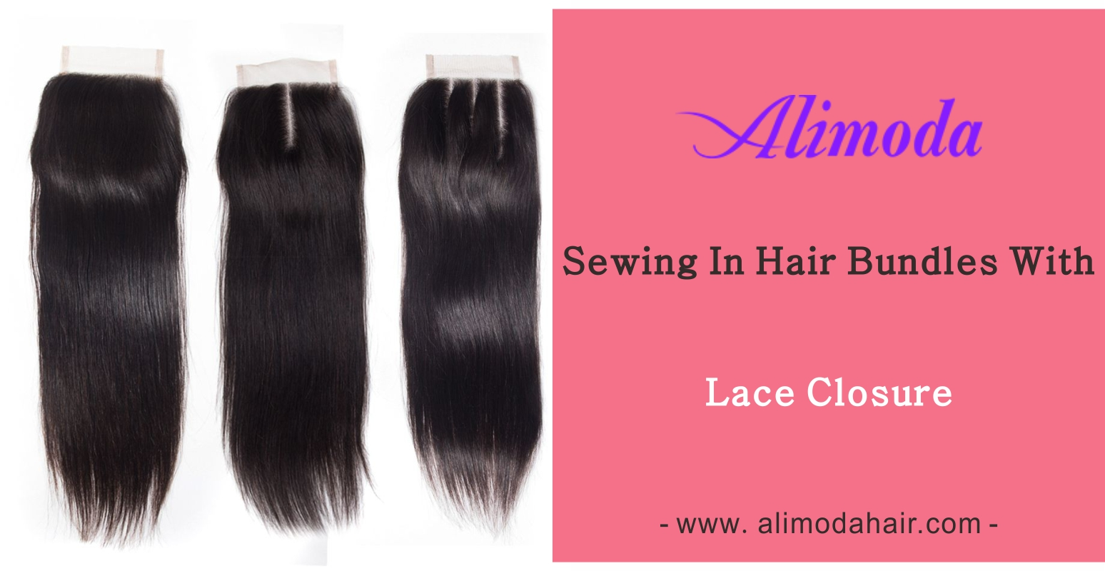 Sew in hair bundles with lace closure