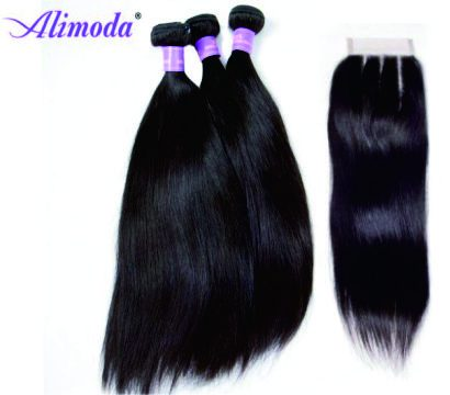 alimoda straight hair with 3 part closure