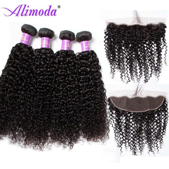 alimoda curly hair bundles with frontal 3