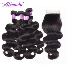 alimoda hair body wave bundles with closure 7