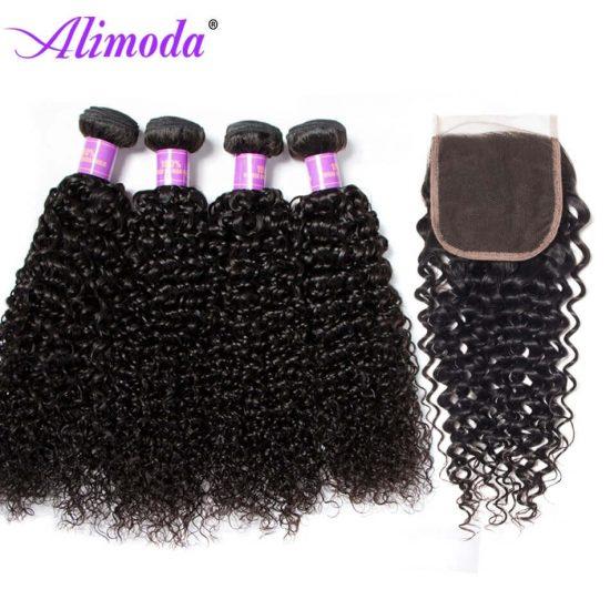 alimoda hair curly hair with closure 4
