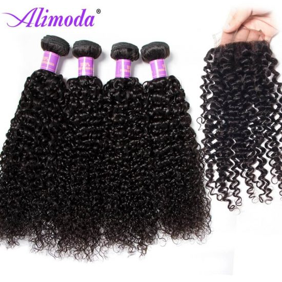 alimoda hair curly hair with closure 5