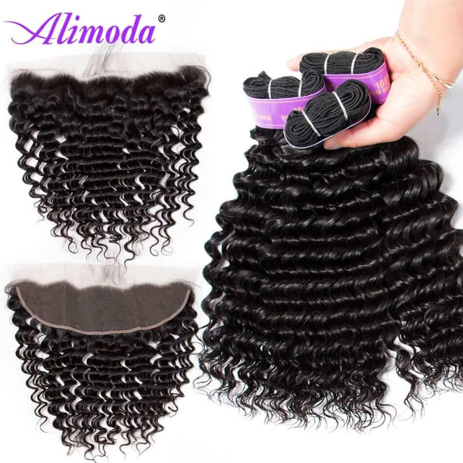 alimoda hair deep wave hair bundles with frontal 2