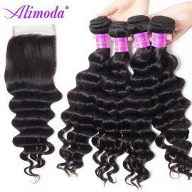 alimoda hair loose deep wave bundles with closure 5