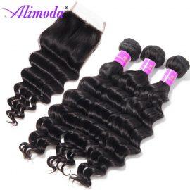 alimoda hair loose deep wave bundles with closure 6