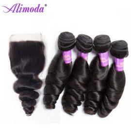 alimoda hair loose wave bundles with closure 4