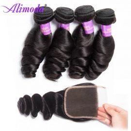 alimoda hair loose wave bundles with closure 6