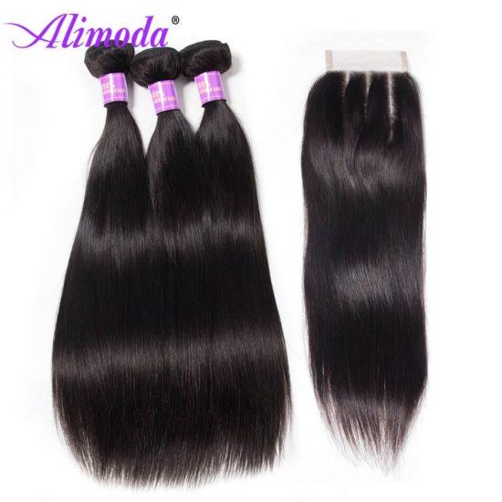 alimoda hair straight hair with closure 5