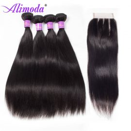 alimoda hair straight hair with closure 6