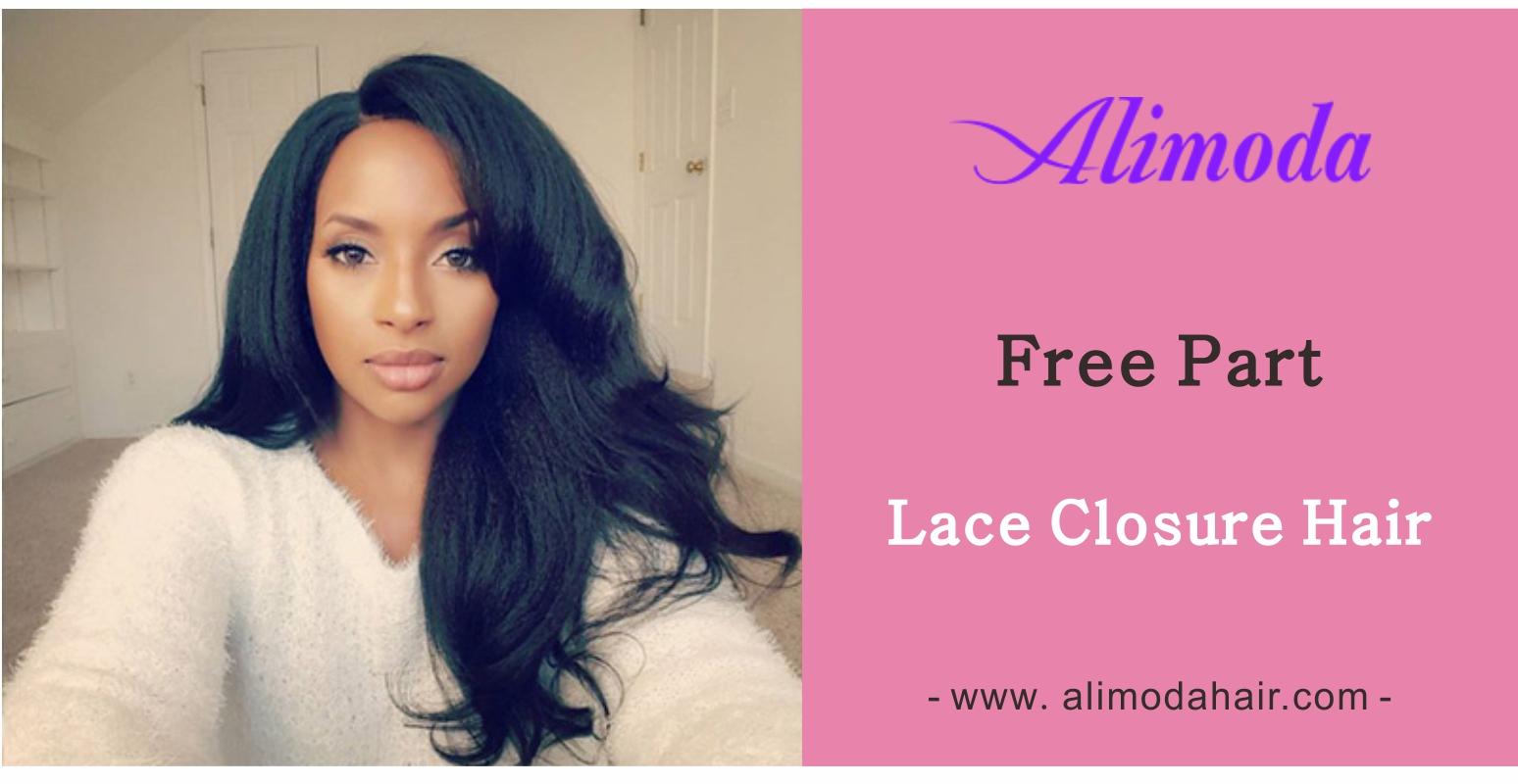 free part lace closure hair
