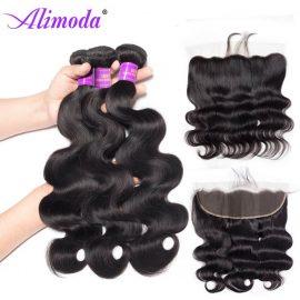 Alimoda hair body wave bundles with frontal 5