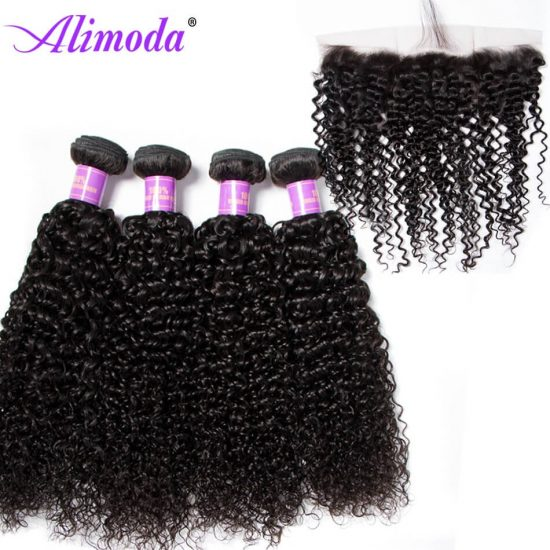 alimoda curly hair bundles with frontal 5