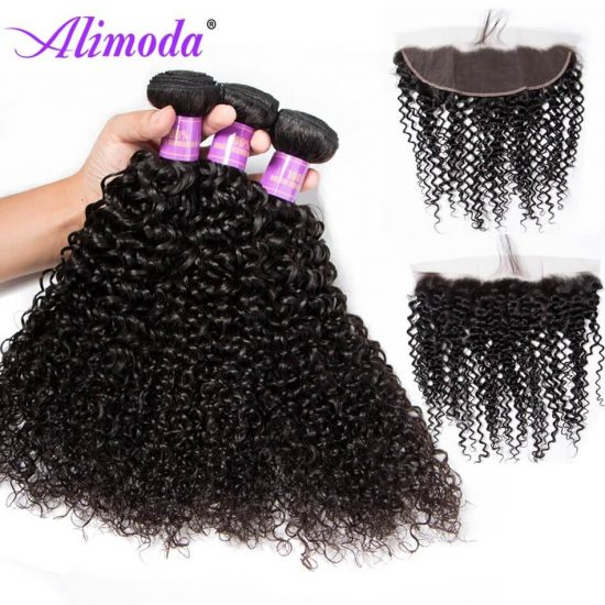 alimoda curly hair bundles with frontal 6