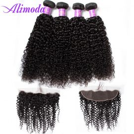 alimoda curly hair bundles with frontal 7