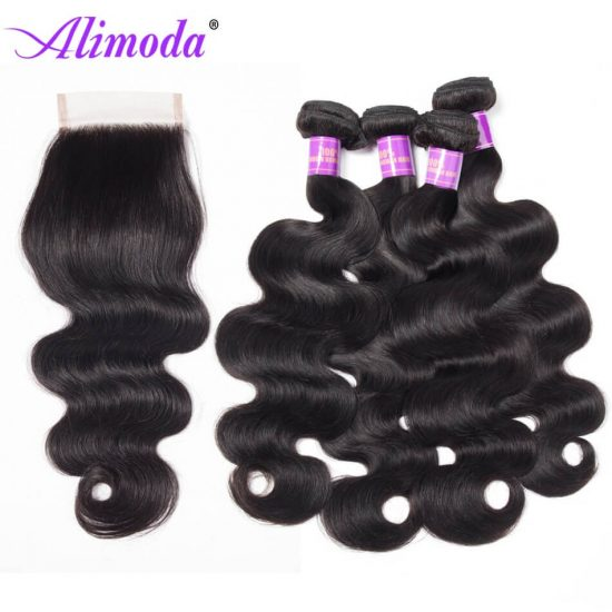 alimoda hair body wave bundles with closure 11