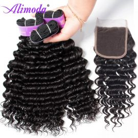 alimoda hair deep wave hair bundles with closure 9