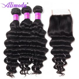 alimoda hair loose deep wave bundles with closure 7