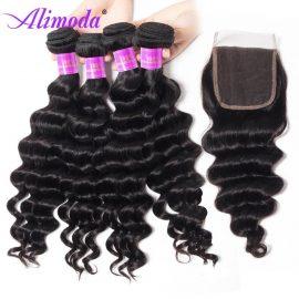 alimoda hair loose deep wave bundles with closure 8