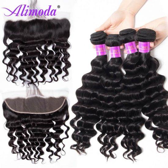 alimoda hair loose deep wave bundles with frontal 6