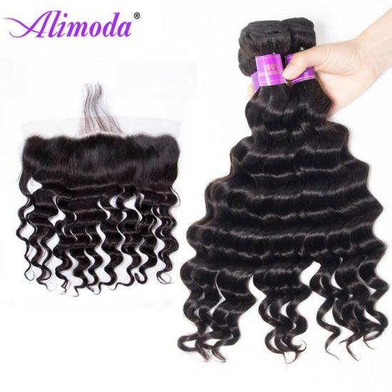 alimoda hair loose deep wave bundles with frontal 7