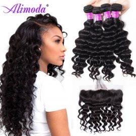 alimoda hair loose deep wave bundles with frontal 8