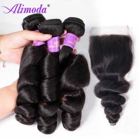 alimoda hair loose wave bundles with closure 7