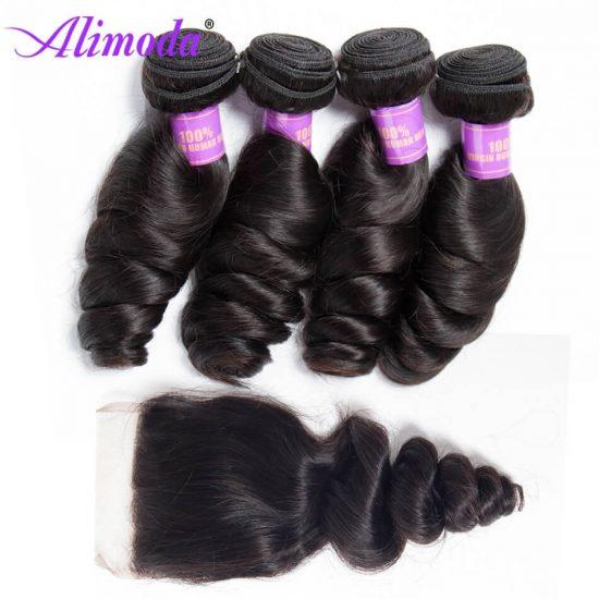alimoda hair loose wave bundles with closure 8