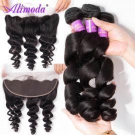alimoda hair loose wave bundles with frontal 4