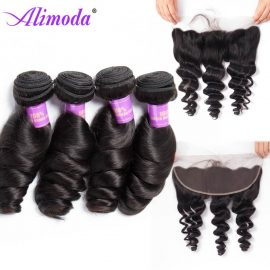 alimoda hair loose wave bundles with frontal 5
