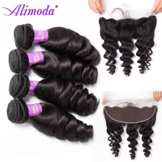 alimoda hair loose wave bundles with frontal 6