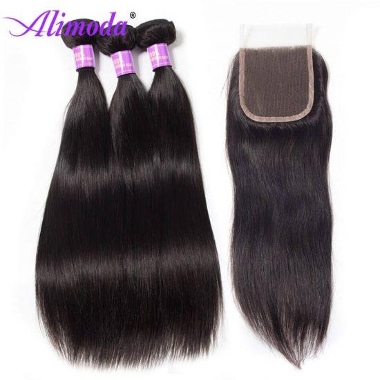 alimoda hair straight hair with closure 7