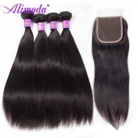 alimoda hair straight hair with closure 8
